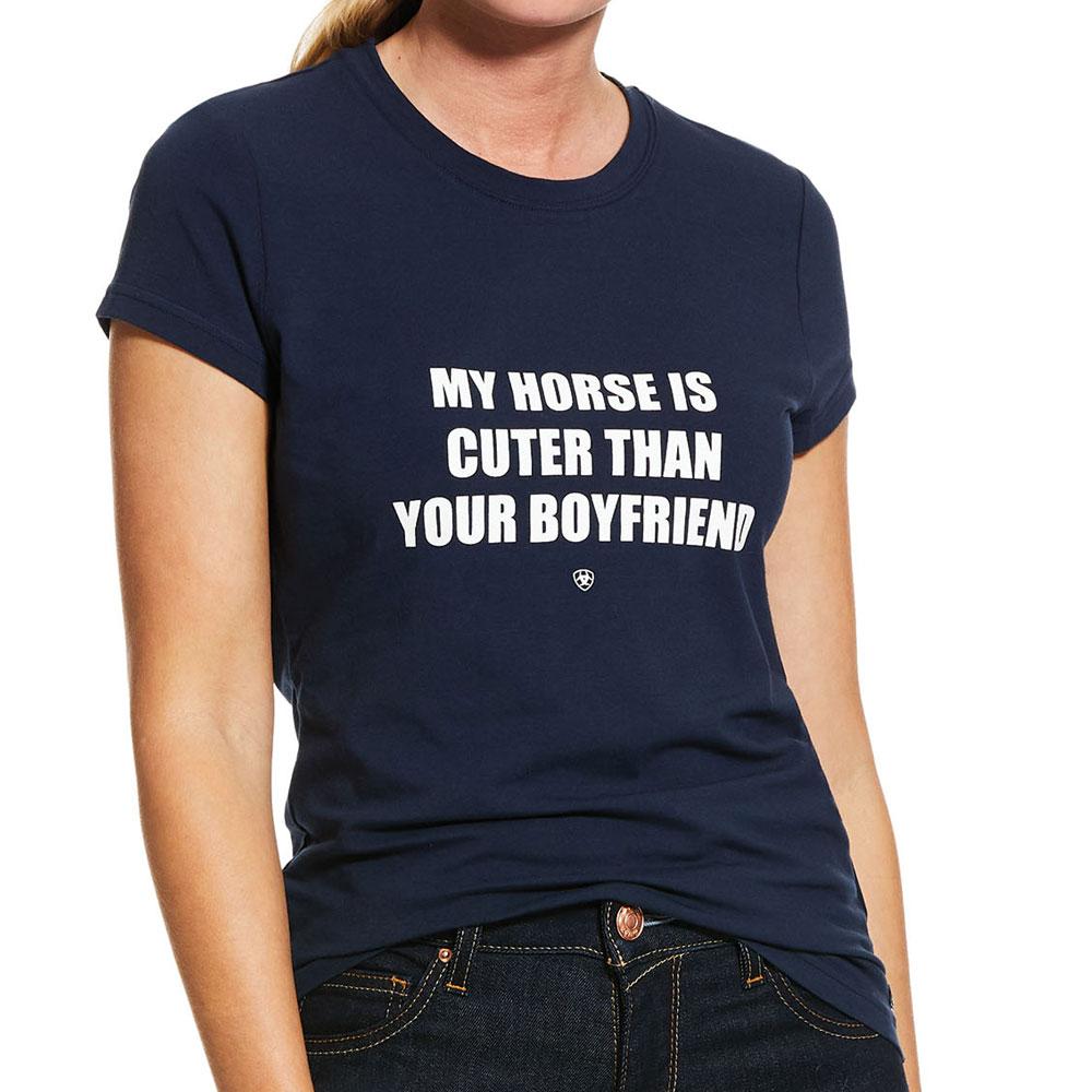 "Ariat ""My Horse Is Cuter Than Your Boyfriend"" Ladies Tee Shirt"