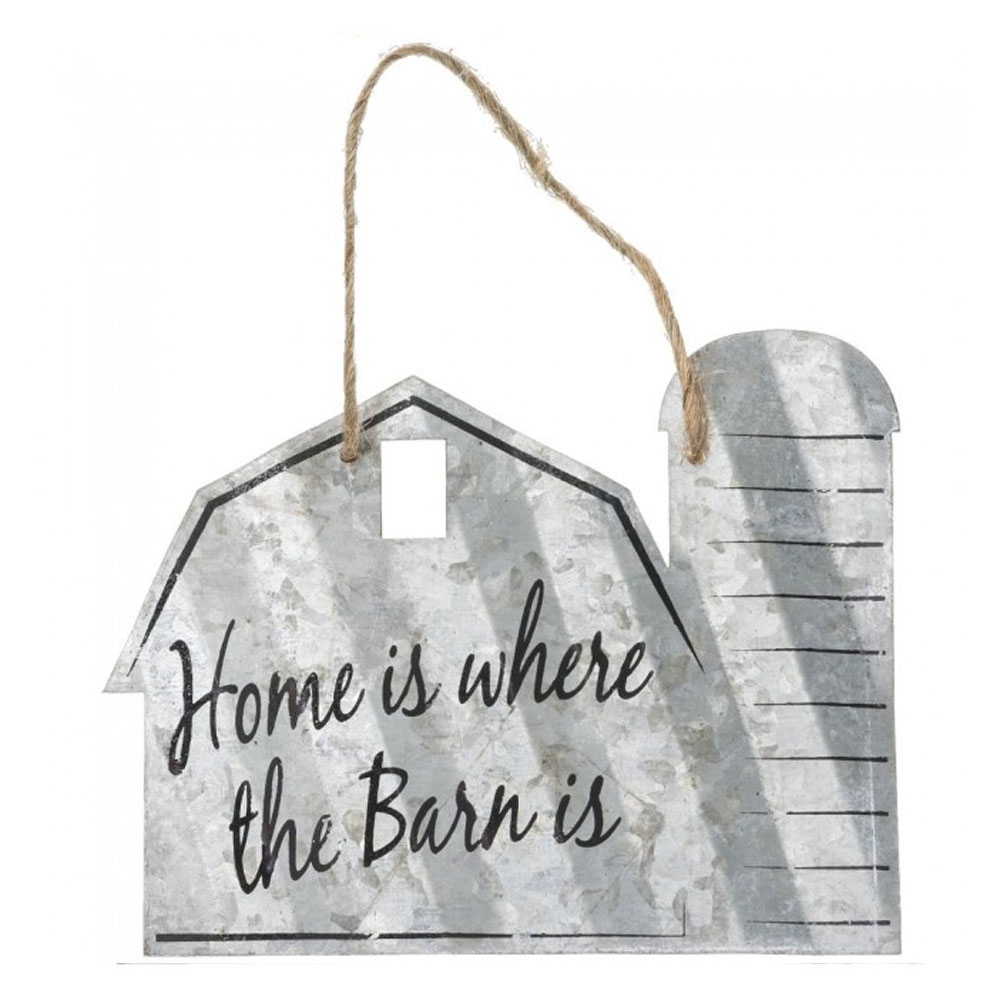 """""""Home Is Where The Barn Is"""" Metal Ornament"""
