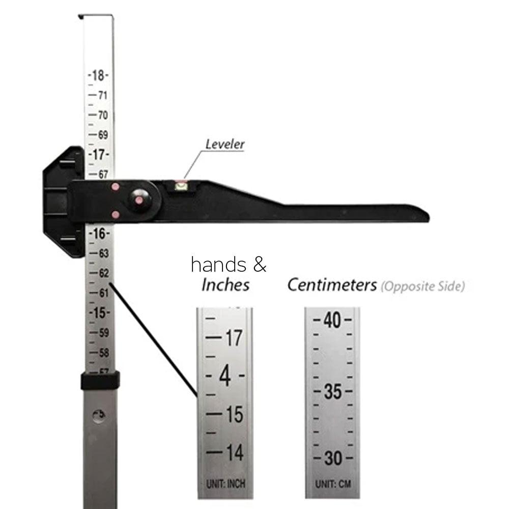 Aluminum & Plastic Equine Measuring Stick