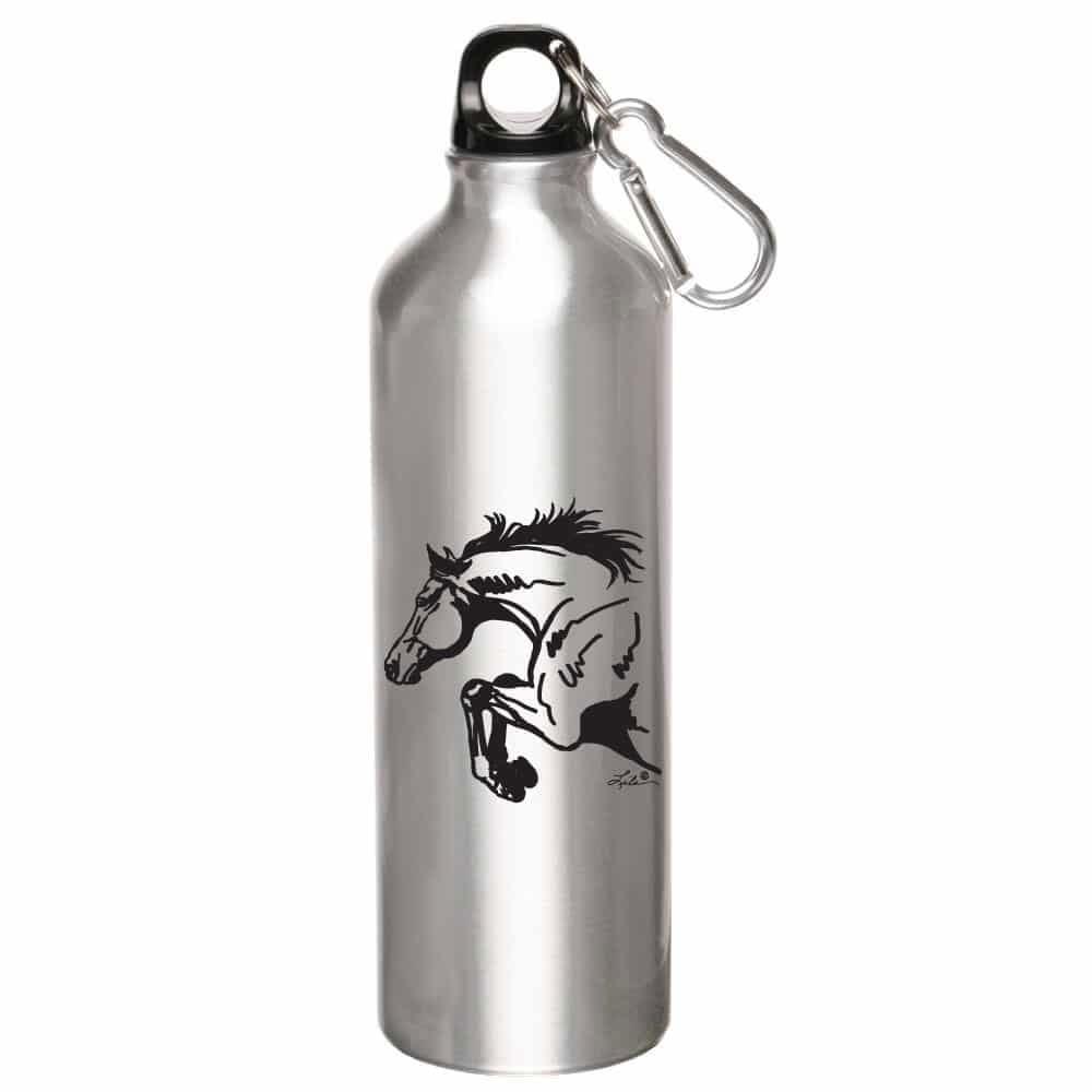 Aluminum Sport Bottle with Horse