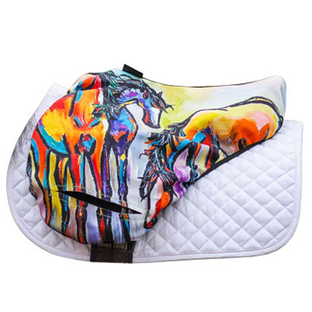 """Art of Riding """"Friends in Colour"""" Saddle Cover"""