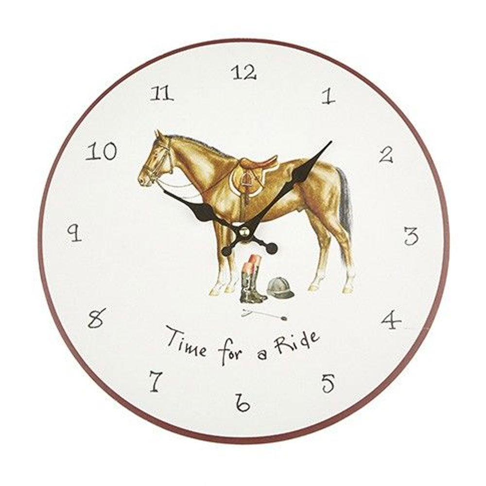 """At Home In The Counrty """"Time For A Ride"""" Wall Clock"""