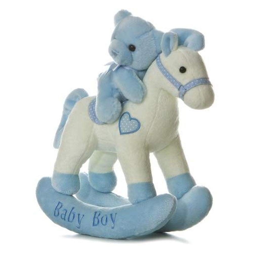 "Aurora ""Baby Boy"" Stuffed Rocking Horse"