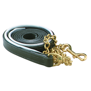 Bahr's Leather Lead with Chain
