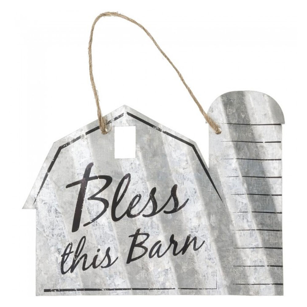 """""""Bless This Barn"""" Metal Ornament"""