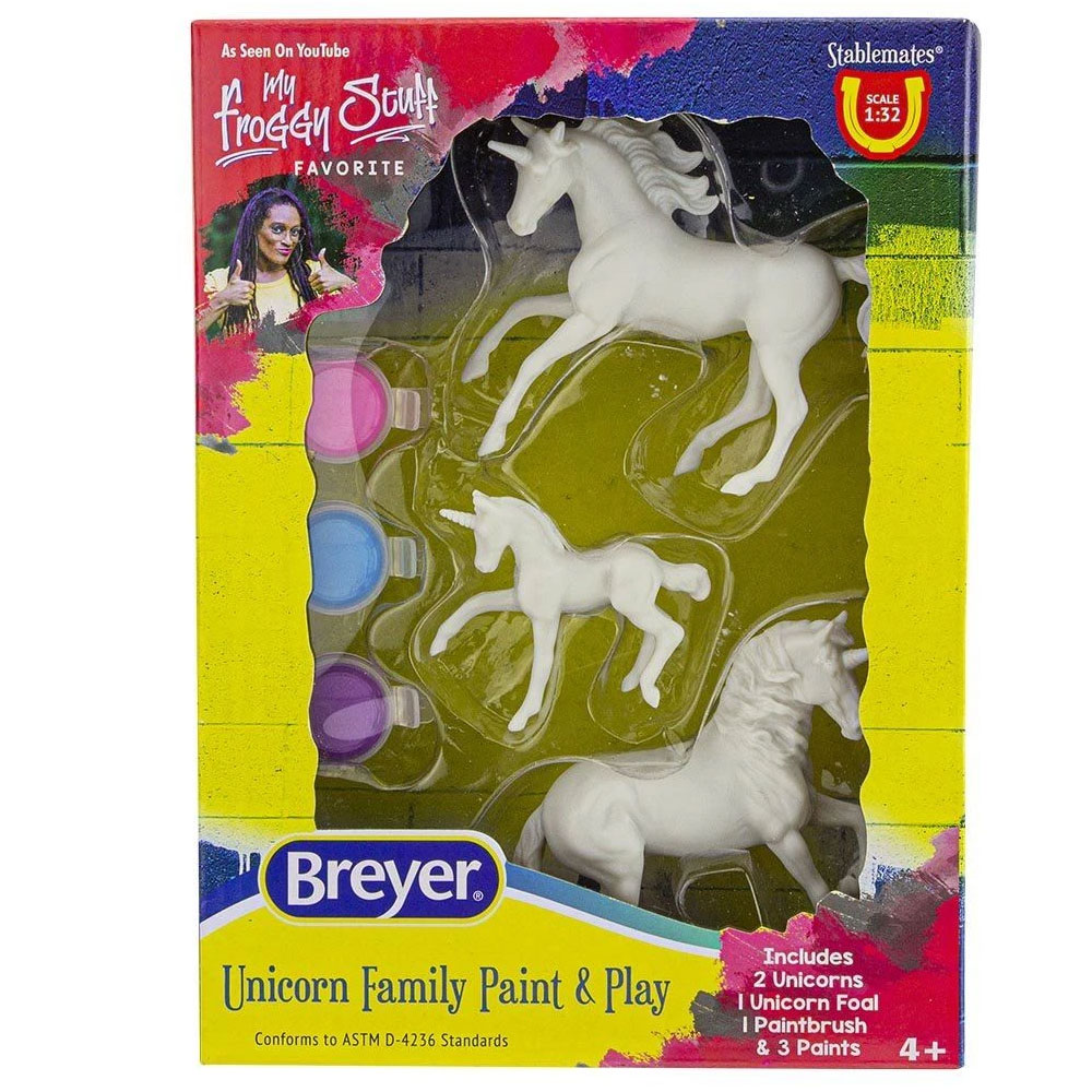 Breyer Unicorn Family Paint & Play