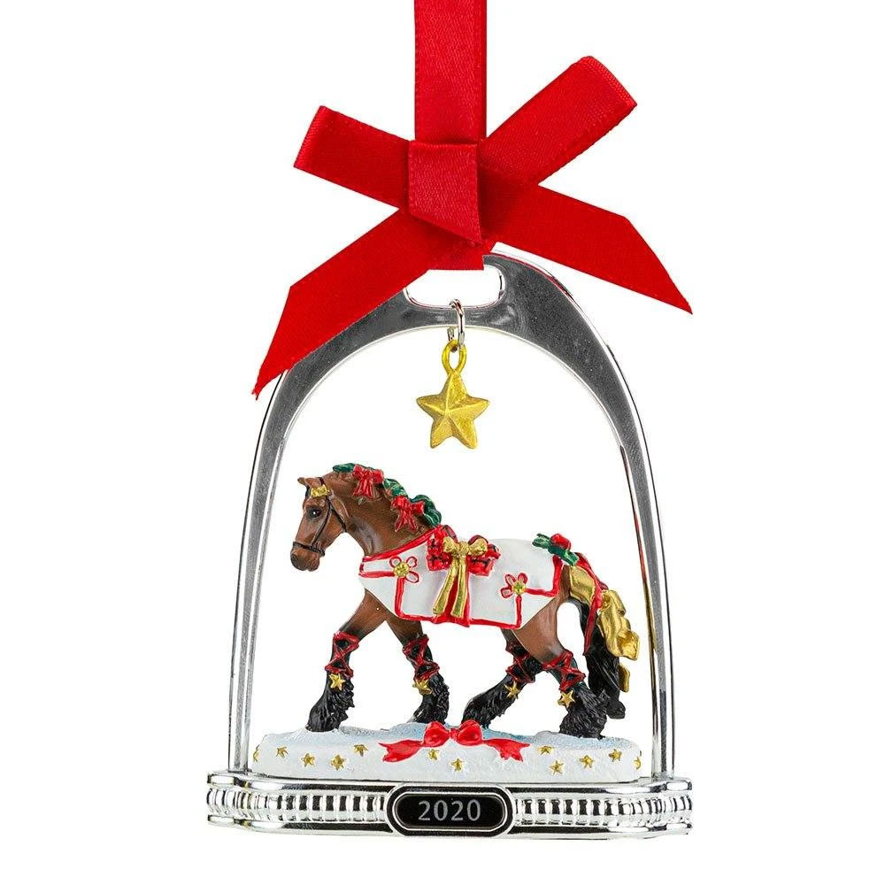 """Breyer """"Yuletide Greetings"""" Holiday Horse - Stirrup Ornament Collection"""