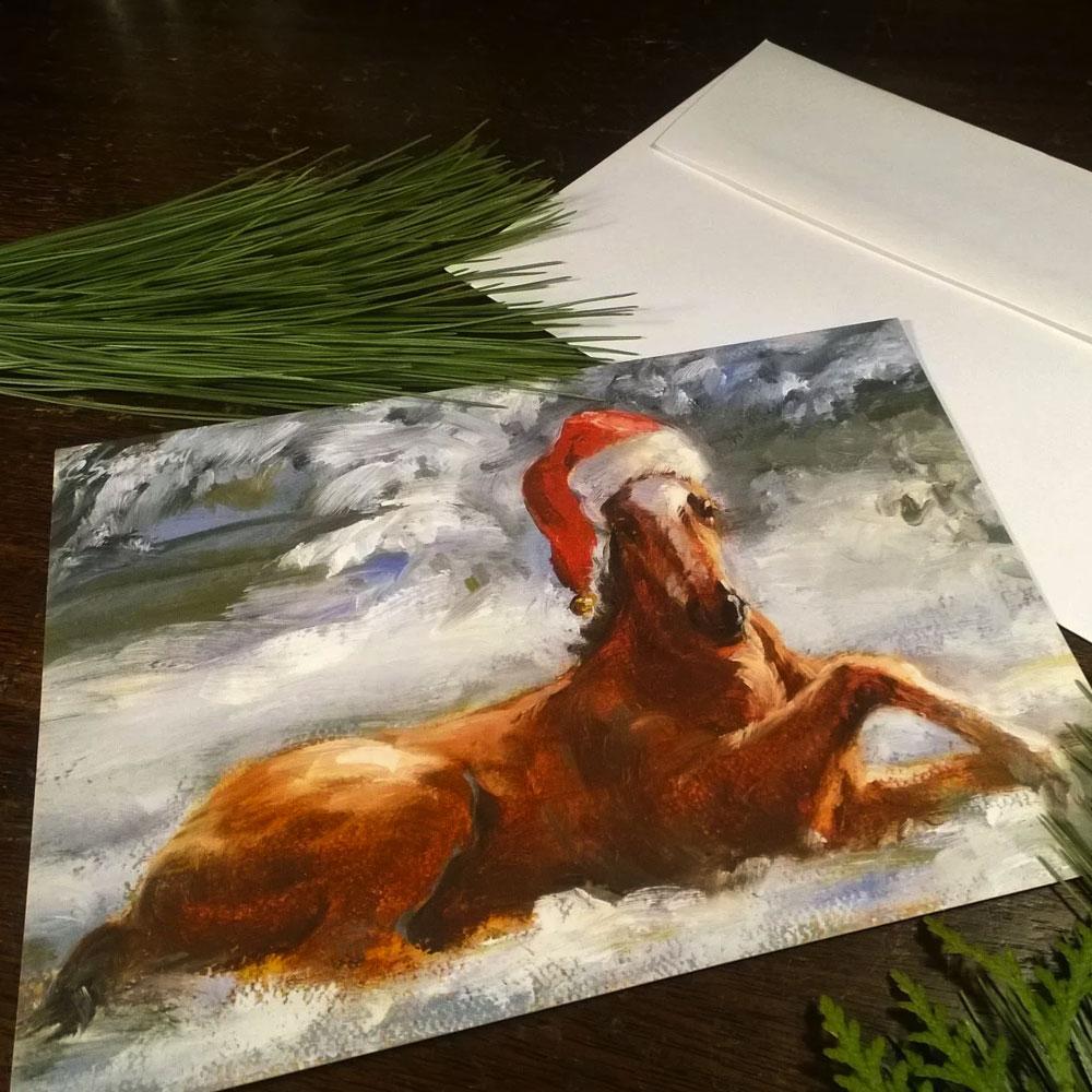 "Celeste Susany Gallery ""Jolly Ol' Foal"" Holiday Card"