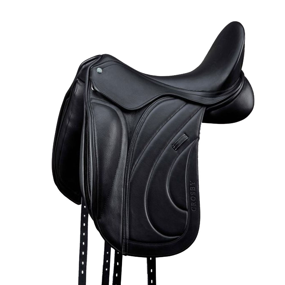 Crosby Adjustable Knee Block Dressage Saddle