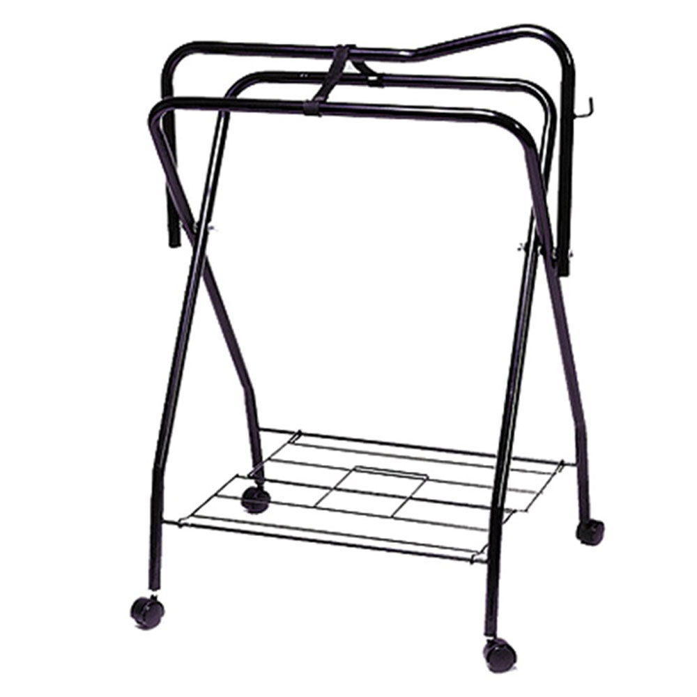 Folding Saddle Stand with Wheels