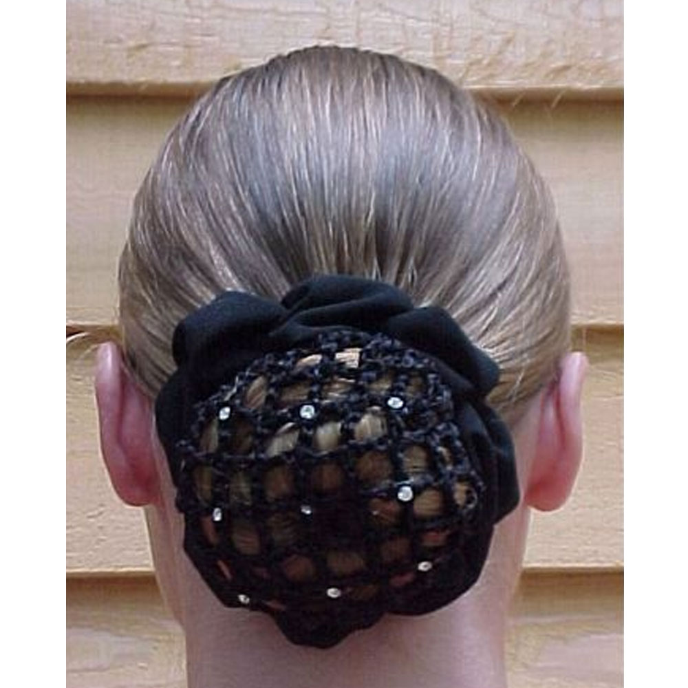 Hair Net Scrunchie with Clips