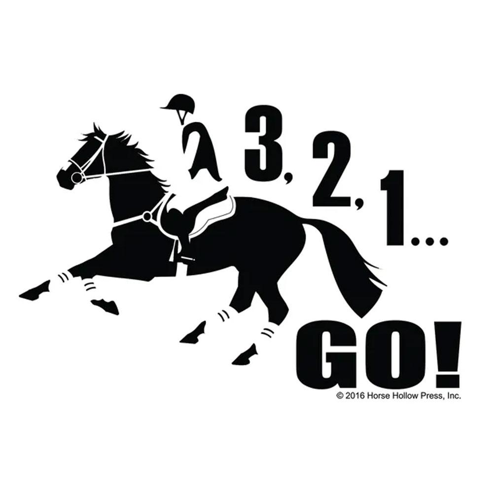 "Horse Hollow Press ""3, 2, 1, Go! Eventer"" Decal"
