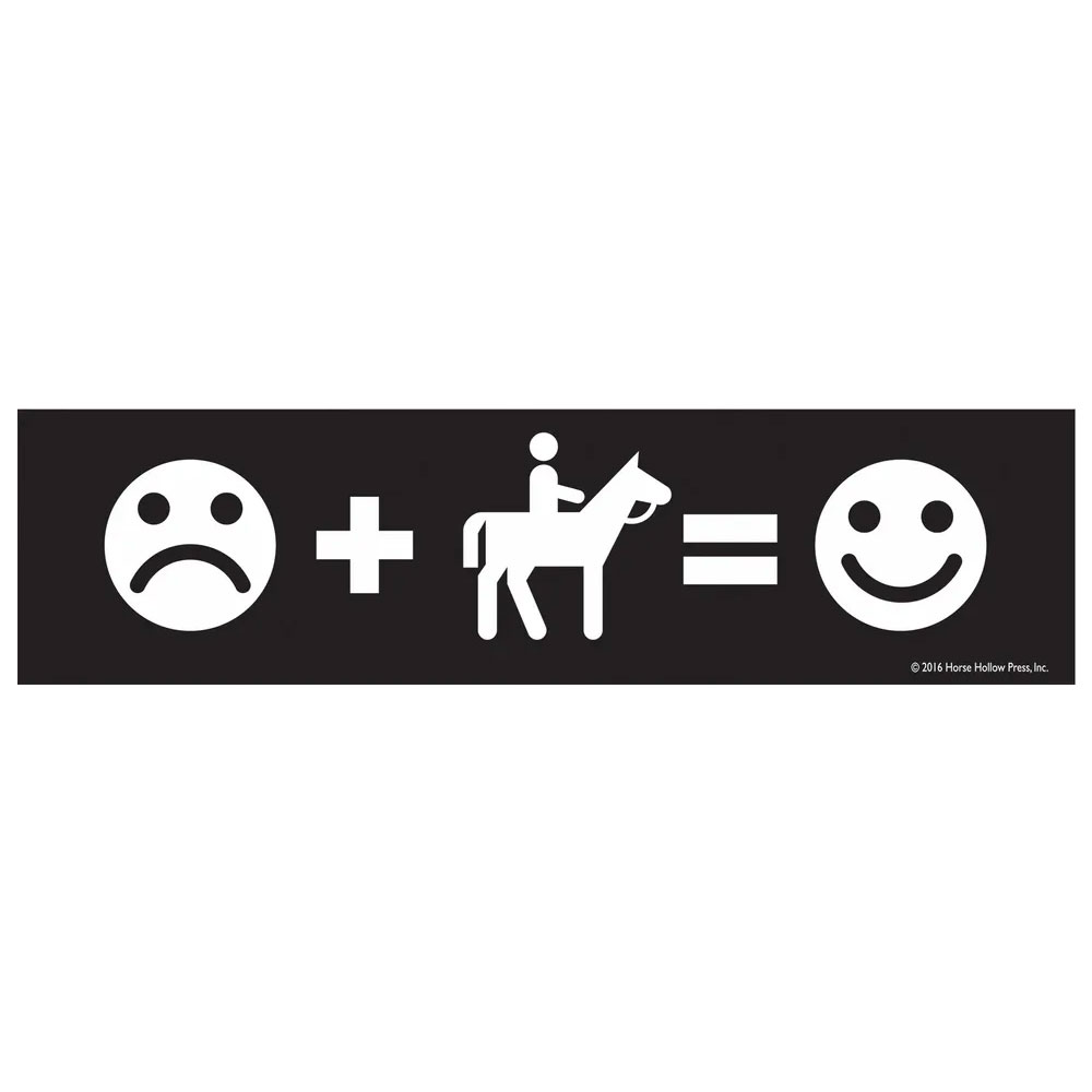 "Horse Hollow Press ""Sad Face + Riding..."" Sticker"