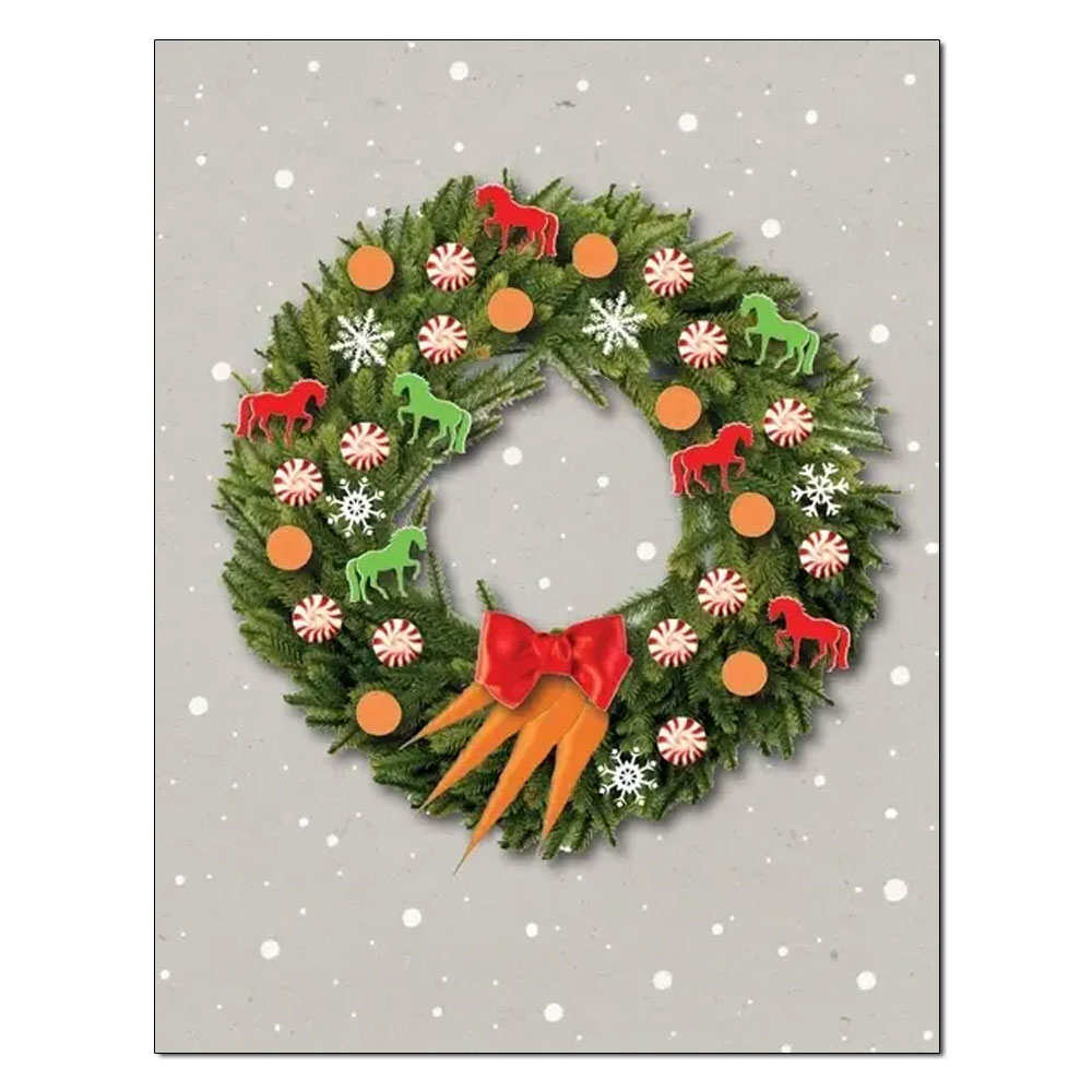 """Horse Hollow Press """"Wreath"""" Holiday Card"""