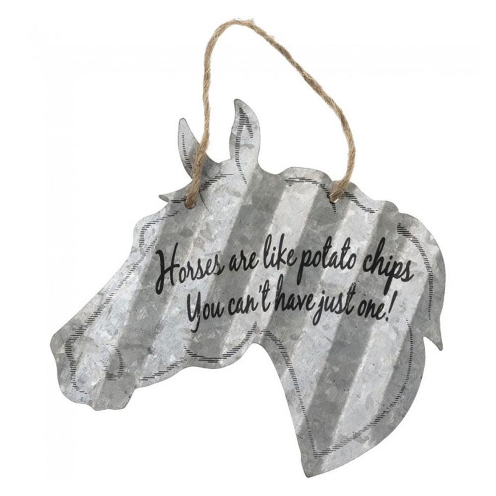 """Horses Are Like Potato Chips..."" Metal Ornament"