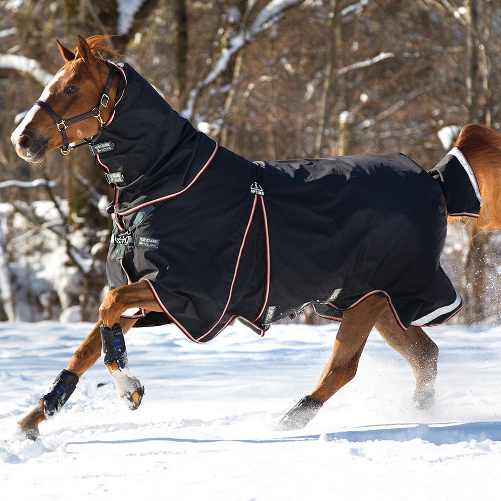 Horseware Rambo Optimo Turnout Blanket System (0g Outer + 400g Liner & Hood)