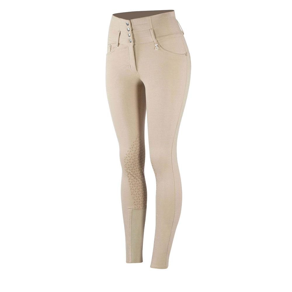 Horze Tara Ladies' High-Waist Silicone Knee Patch Breeches