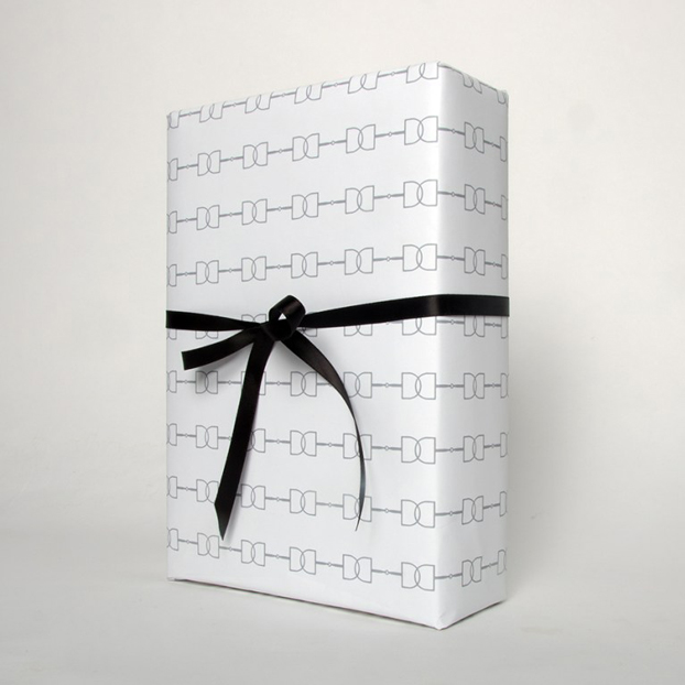 Hunt Seat Paper Gift Wrap D-Ring