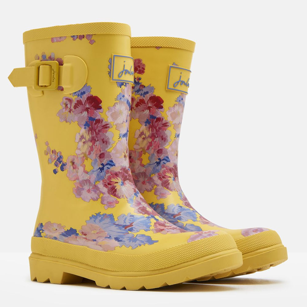 """Joules Jr. """"Yellow Floral"""" Girls' Wellies"""