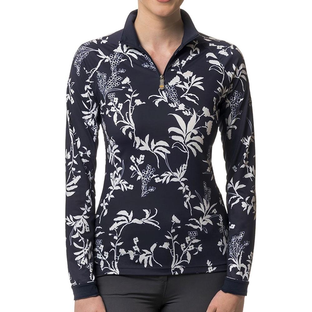 Kastel Denmark Women's All Over Print Long Sleeved Quarter Zip Sun Shirt