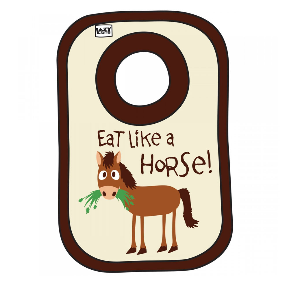 "Lazy One ""Eat Like A Horse"" Bib"