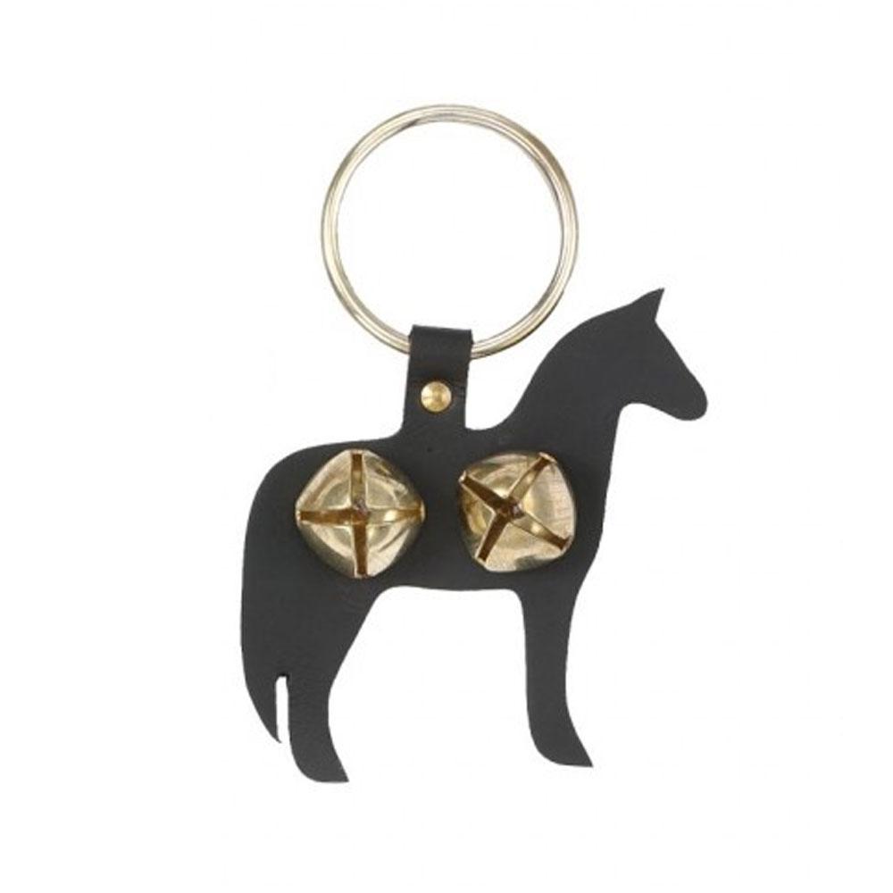 Leather Horse Door Knocker with Jingle Bells
