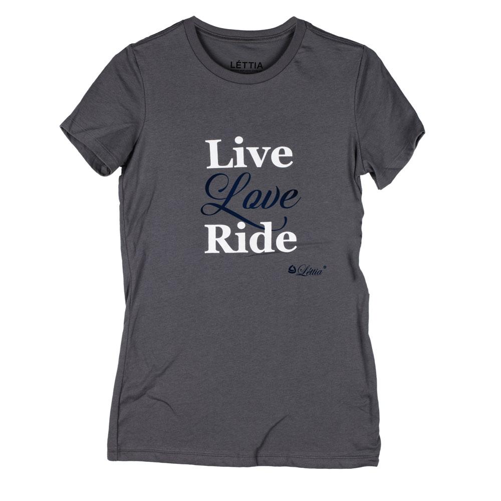 "Lettia Ladies' ""Live Love Ride"" Short Sleeved Tee Shirt"