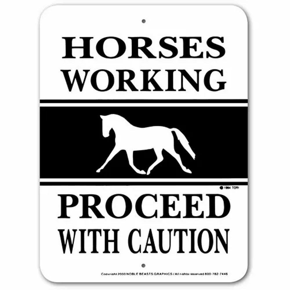 Noble Beasts Graphics Horses Working Proceed... Sign