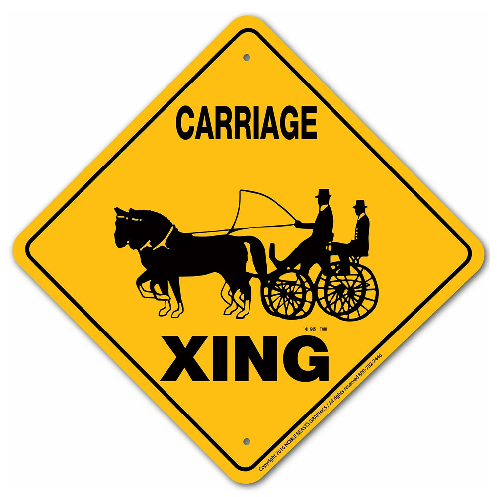 Noble Beats Graphics Carriage (Pair) Crossing Sign
