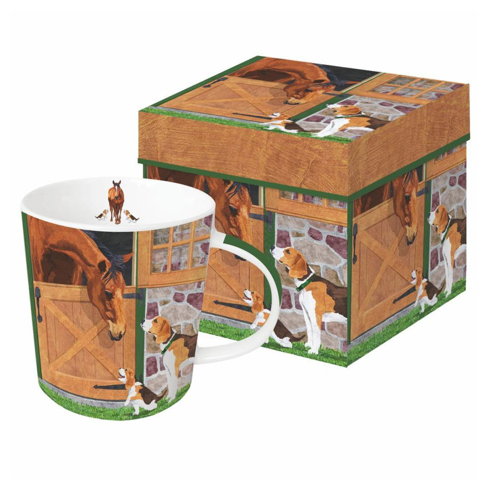 "Paperproducts Designs ""Horse & Hounds"" Boxed Mug"