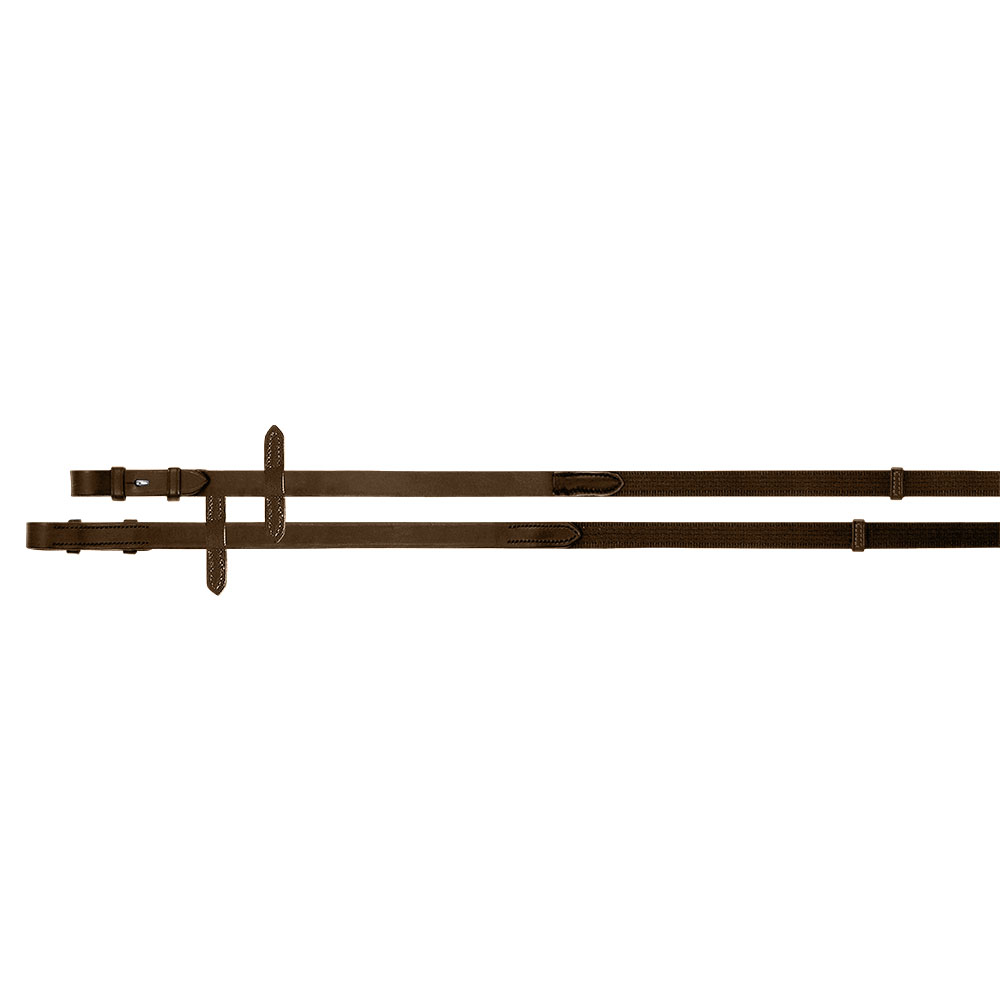 Passier Hook Stud Web Reins with Leather Grips and Stops