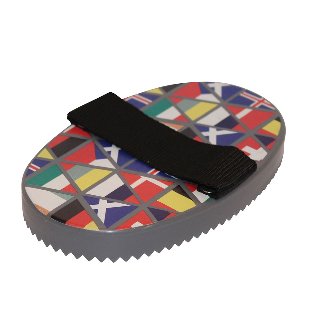 """Roma """"National Flags"""" Curry Comb"""