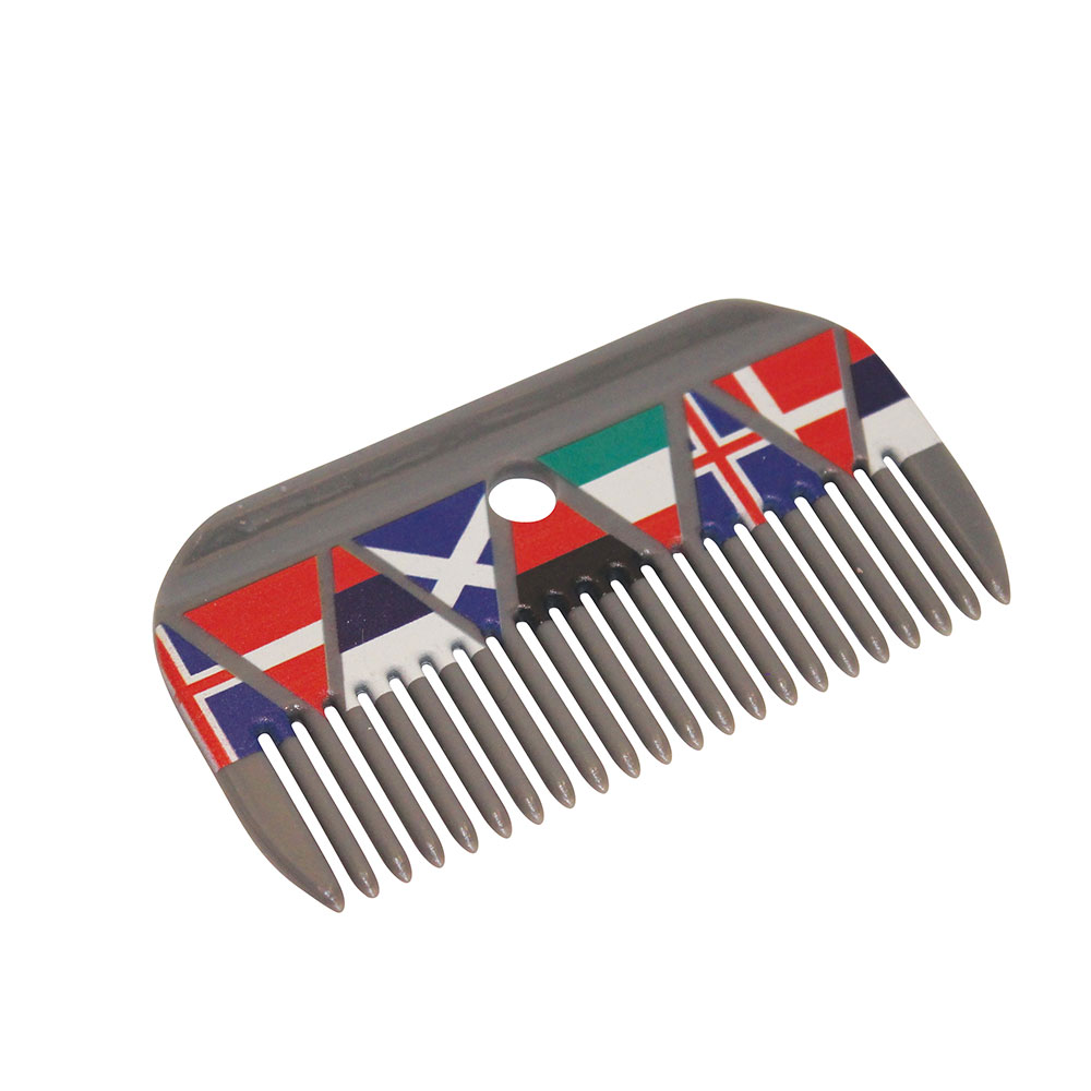 """Roma """"National Flags"""" Mane Comb"""