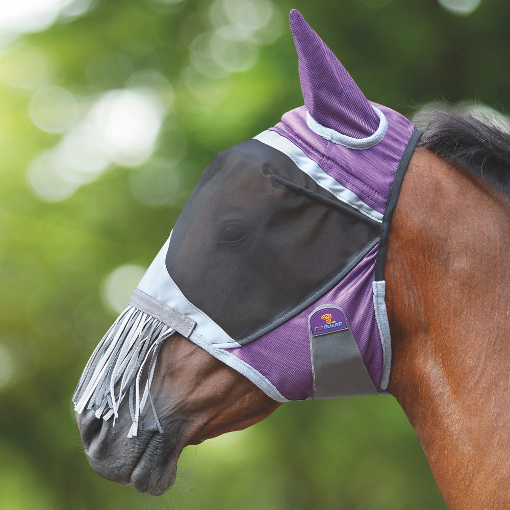 Shires Equestrian Deluxe Fly Mask with Nose Fringe