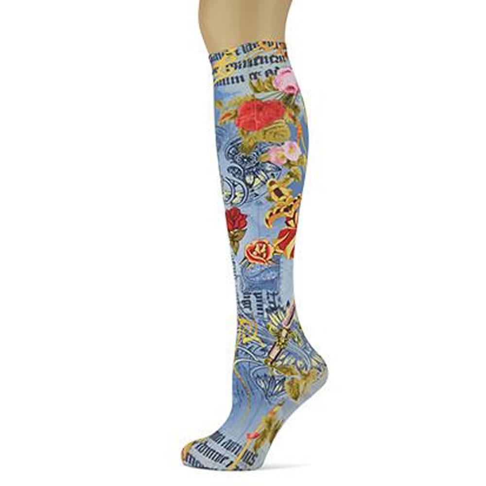 "Sox Trot ""American Beauty"" Boot Socks"
