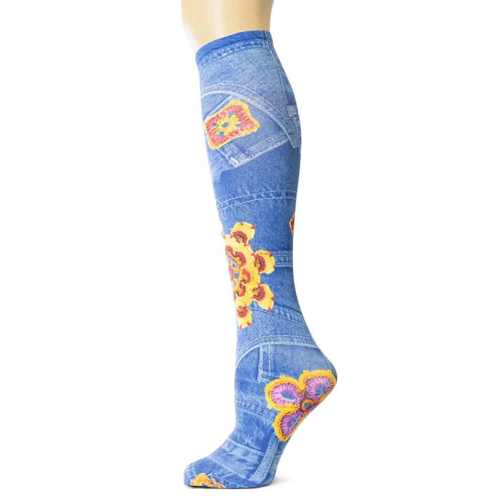 "Sox Trot ""Happy Denim"" Boot Socks"
