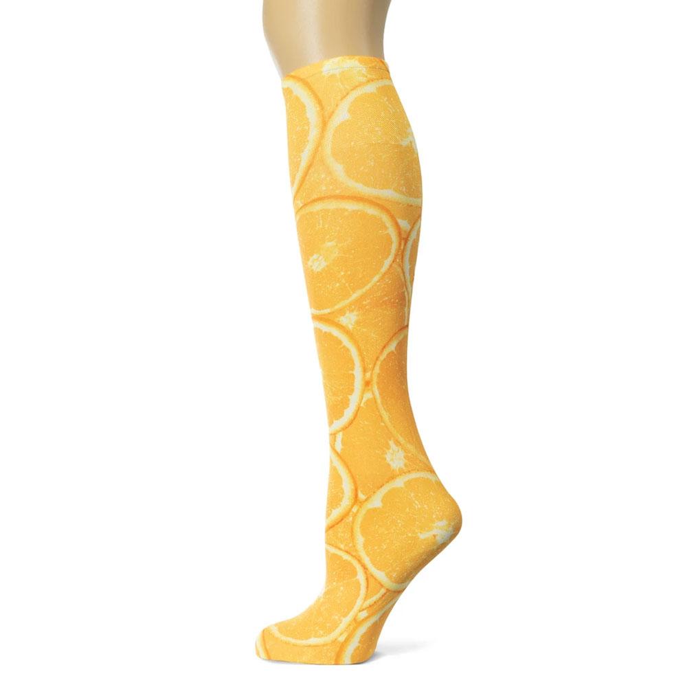 """Sox Trot """"Slice of Orange"""" Boot Socks"""