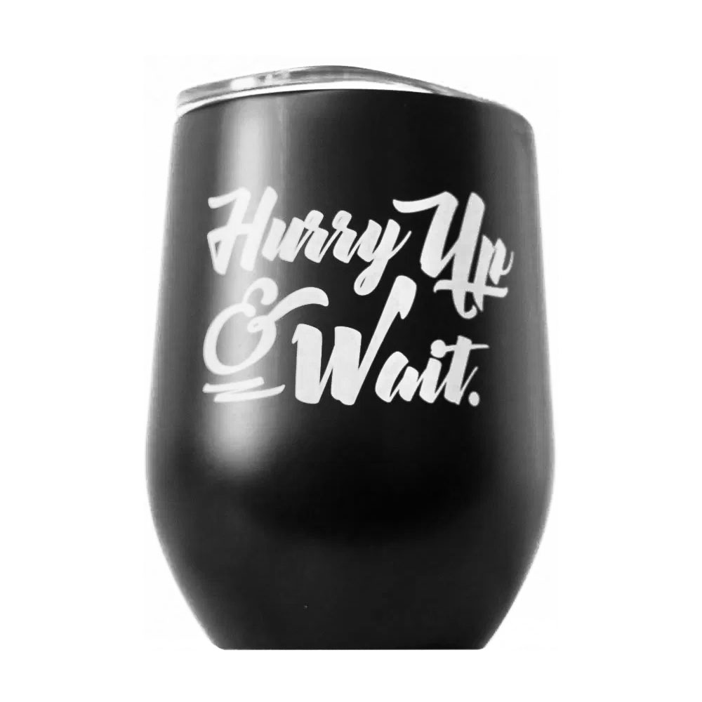 """Spiced Equestrian """"Hurry Up & Wait"""" Insulated Cup"""