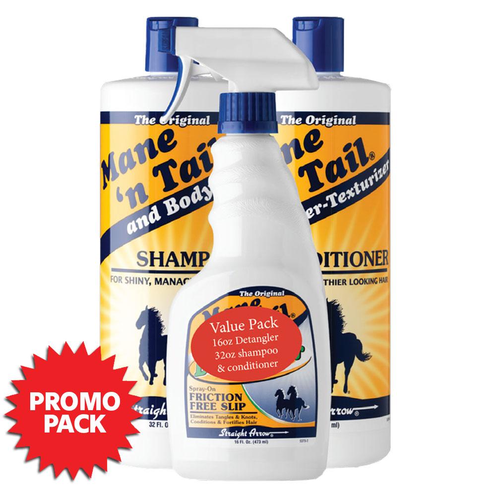 Straight Arrow Mane 'n Tail Detangler, Shampoo & Conditioner PROMO Pack