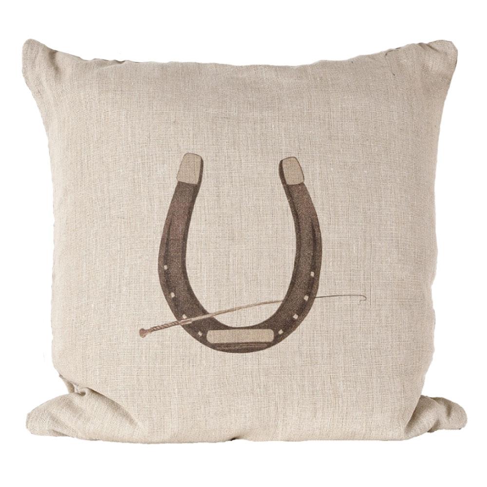 """Sunbrella """"Horse Shoe"""" Indoor/Outdoor Pillow"""