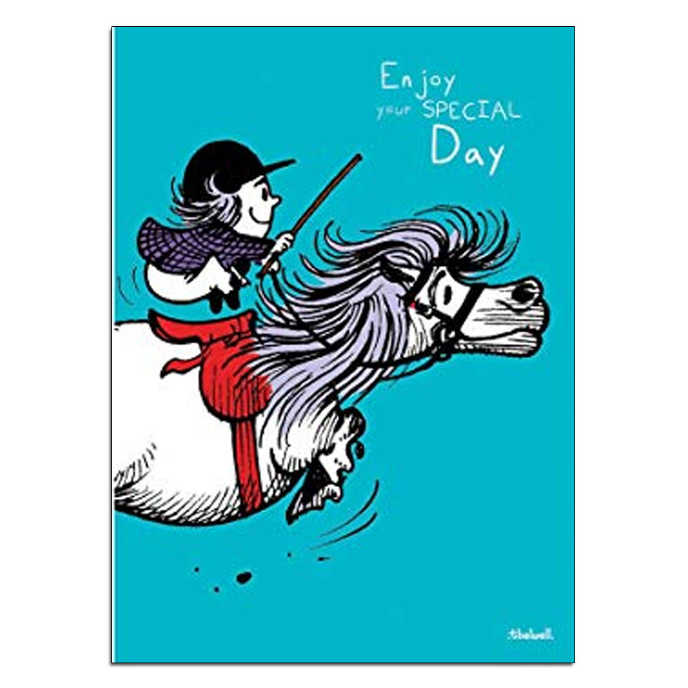 """Thelwell """"Enjoy Your Day"""" Birthday Card"""