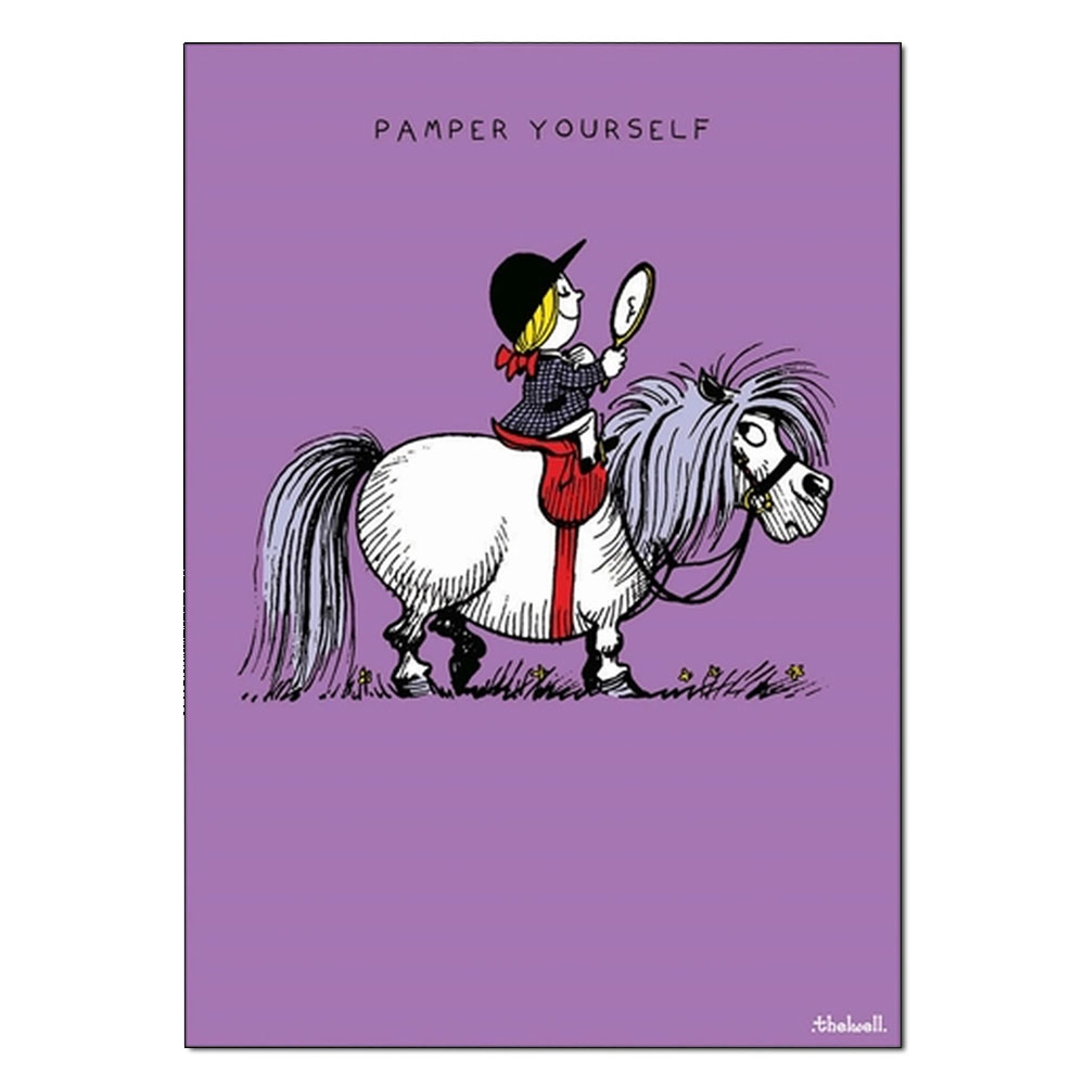 """Thelwell """"Pamper Yourself"""" Birthday Card"""