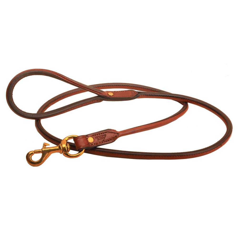 Tory Leather 4' Rolled Dog Leash