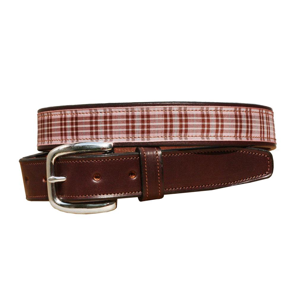 Tory Leather Equestrian Plaid Belt