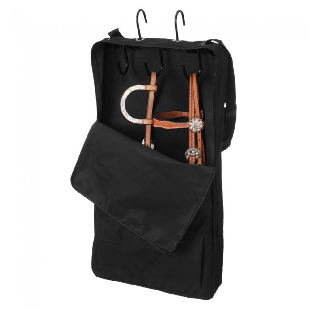 Tough-1 3-Prong Bridle/Halter Tack Rack with Cover