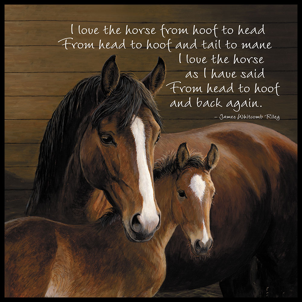 """Tree Free Greetings """"I Love the Horse"""" Magnet"""