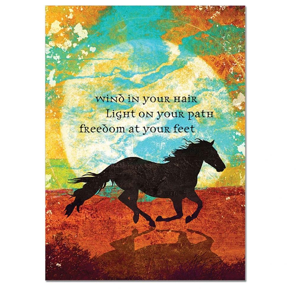 "TreeFree Greetings ""Wind in Your Hair"" Birthday Card"