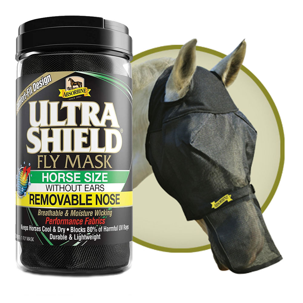 Absorbine Ultrashield EX Fly Mask with Ears & Nose