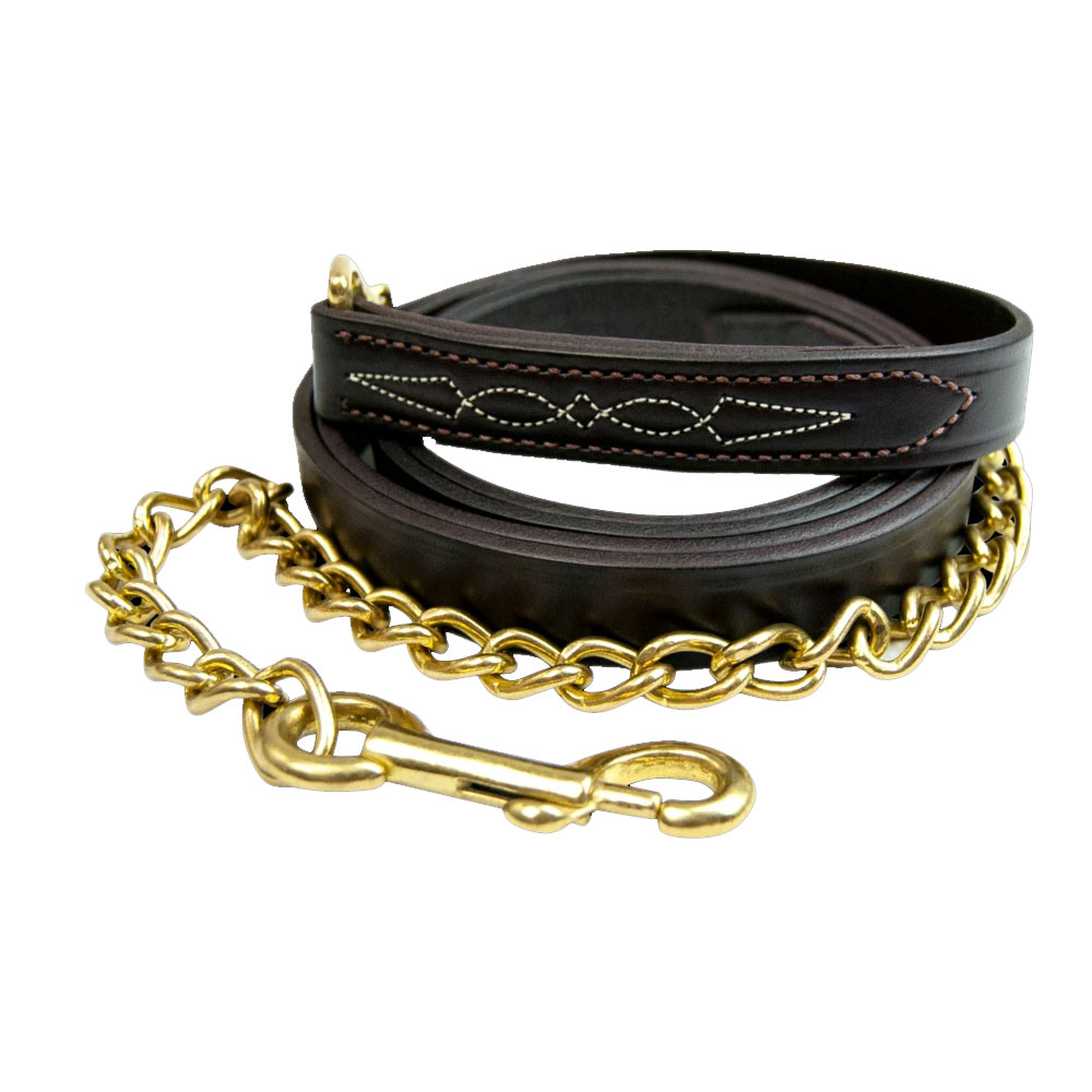 Walsh Fancy Stitch Lead with Solid Brass Chain