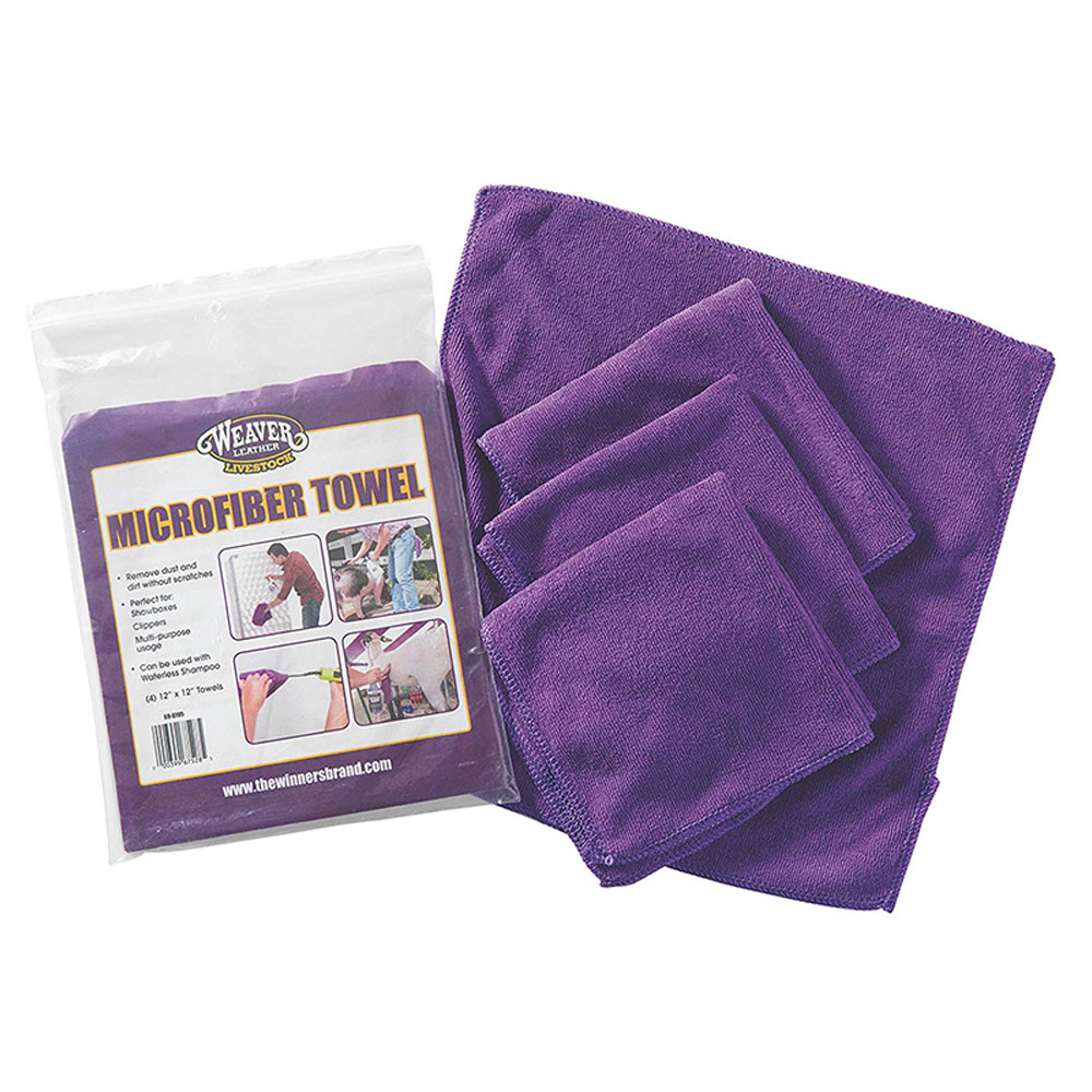 Weaver Leather Microfibre Towel - 4 Pack